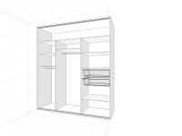 szafa wnękowa 3 drzwi srodek+